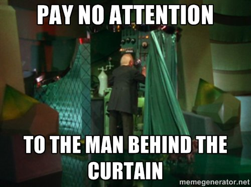 The truth is out there: but pay no attention to the man behind thecurtain…